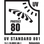 UV80 Label für strandmuschel com 150x150 Zack Premium erreicht beim Strandmuschel Test den Sonnenschutzfaktor UV80