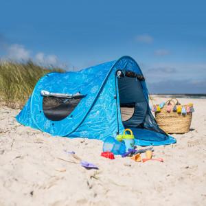Verschließbare Strandmuschel mit UV Schutz 80