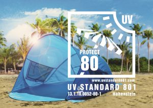 Strandmuschel mit UV Schutz 80