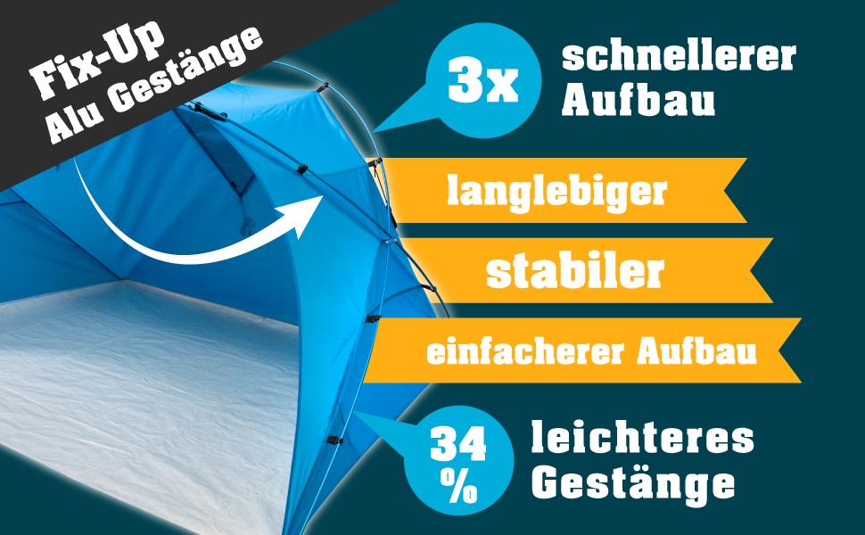 outdoorer Fix up Strandmuschel - Infografik