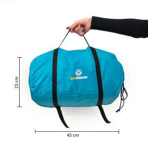 Packmaß Zelt-Strandmuschel Svalin